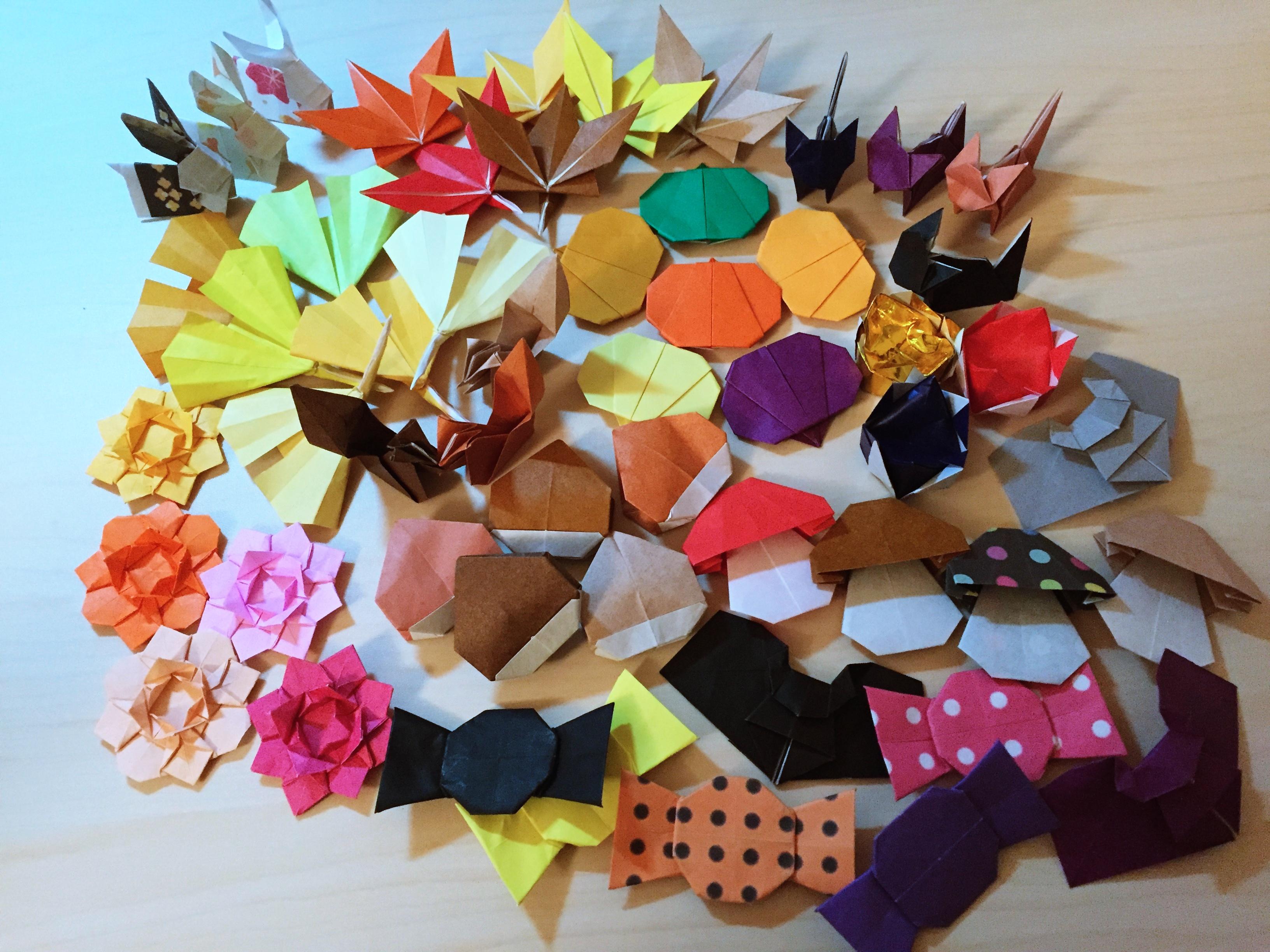 秋の折り紙箸置き