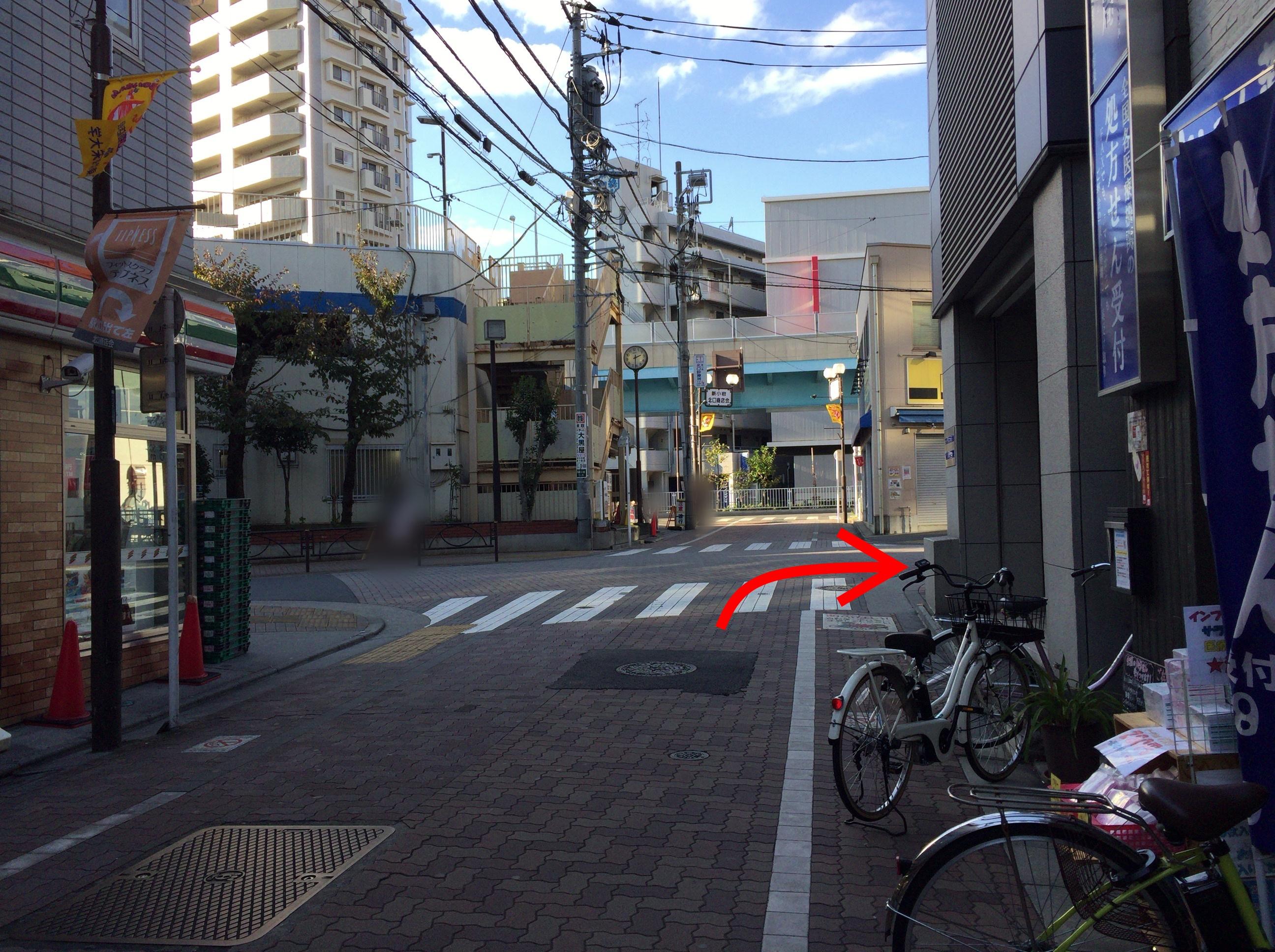 新小岩北口商店会から巽橋へ